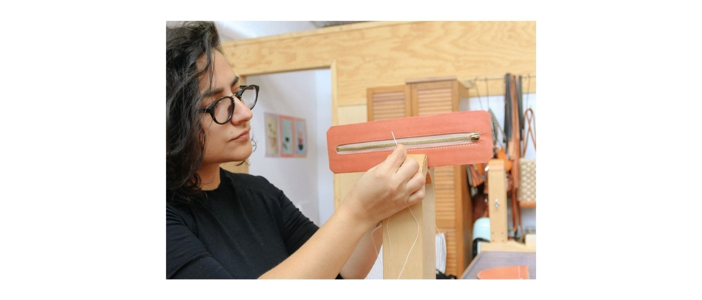 Bag making and ethical production with Simétrie founder, Simone Agius.